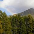 虹と男体山