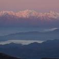 朝の後立山