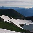 御岳・三の池と北アルプス