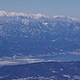 乗鞍岳と諏訪湖
