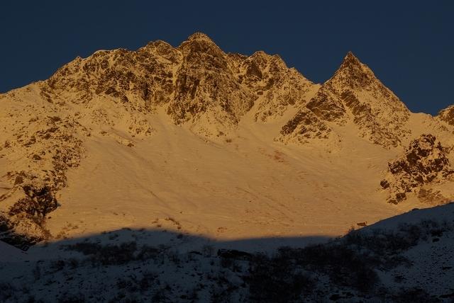 黄金の涸沢岳