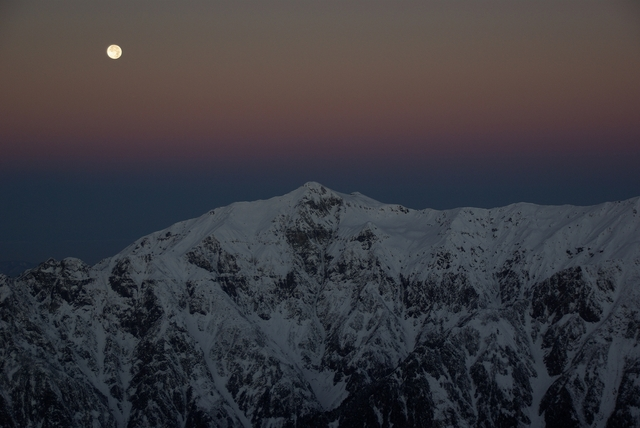月と笠ヶ岳