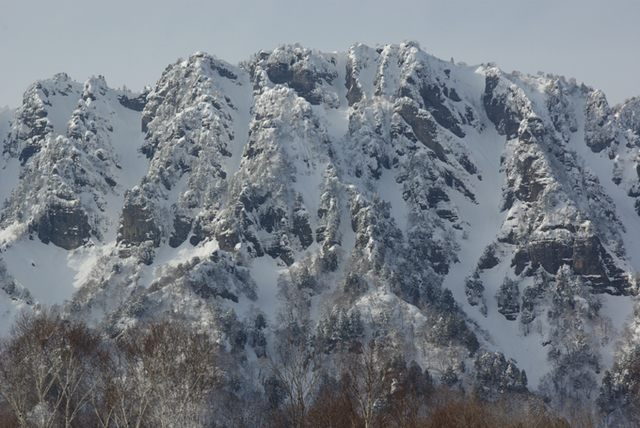 冬の岩壁・戸隠山