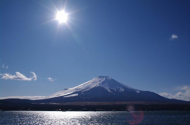 きらめく富士山