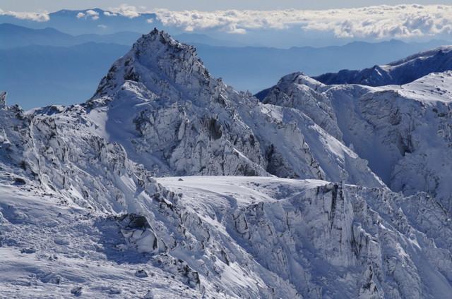 凍てつく宝剣岳
