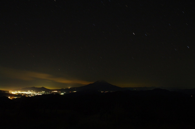 星降る富士山