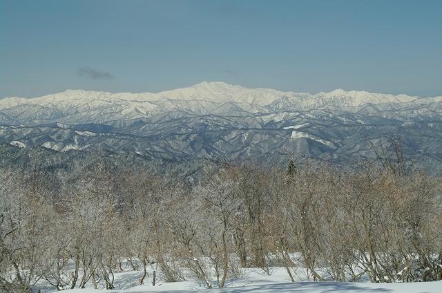 樹氷と白山